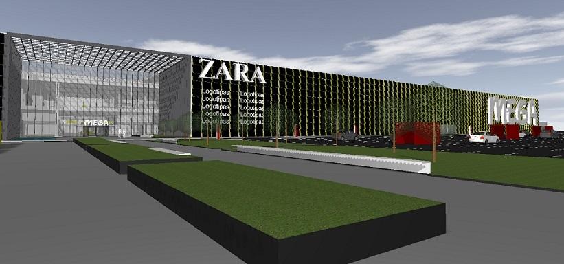 Trimatė vizualizacija - prekybos centras MEGA