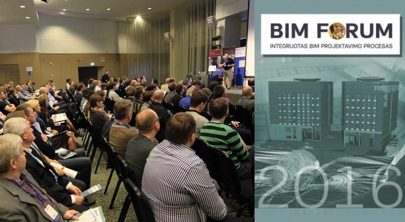 """""""BIM Forum Vilnius 2016"""": BIM praktika Lietuvoje"""
