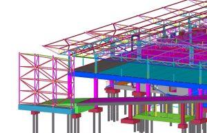 MAXIMA administracinis pastatas. Konstrukcijų BIM modelis