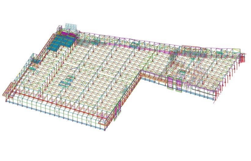 Prekybos centras NORDIKA. Konstrukcijų BIM modelis
