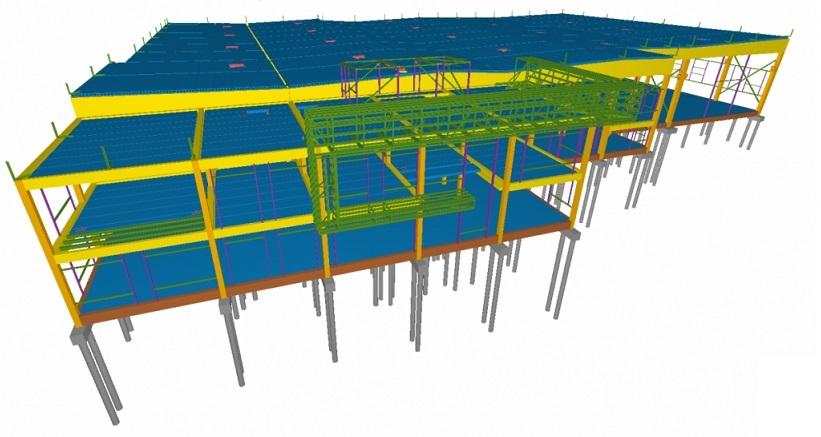 Pilotinis Conresta BIM projektas – BIM taikymas statybose atsiperka. BIM modelis - konstrukcijos